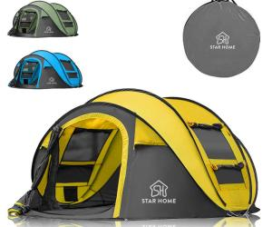 STAR HOME Pop Up Tents Family CampingLarge Instant Beach Tents in 3 Colors