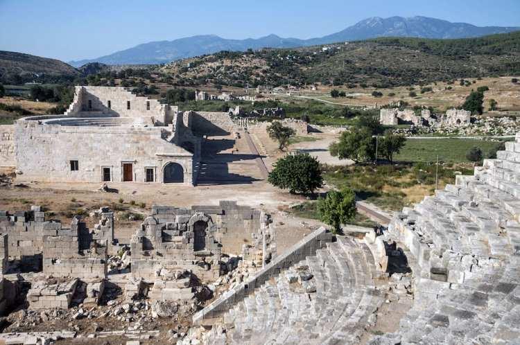 ruins at patara
