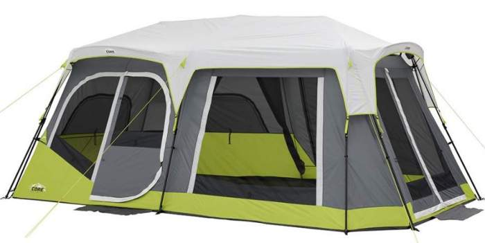 "best 4 person 2 rooms family tent camping ""cheap"" tent for large groups"