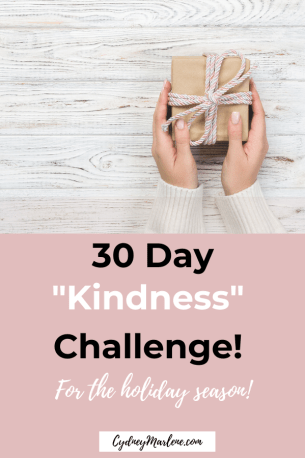 30 day kindness challenge