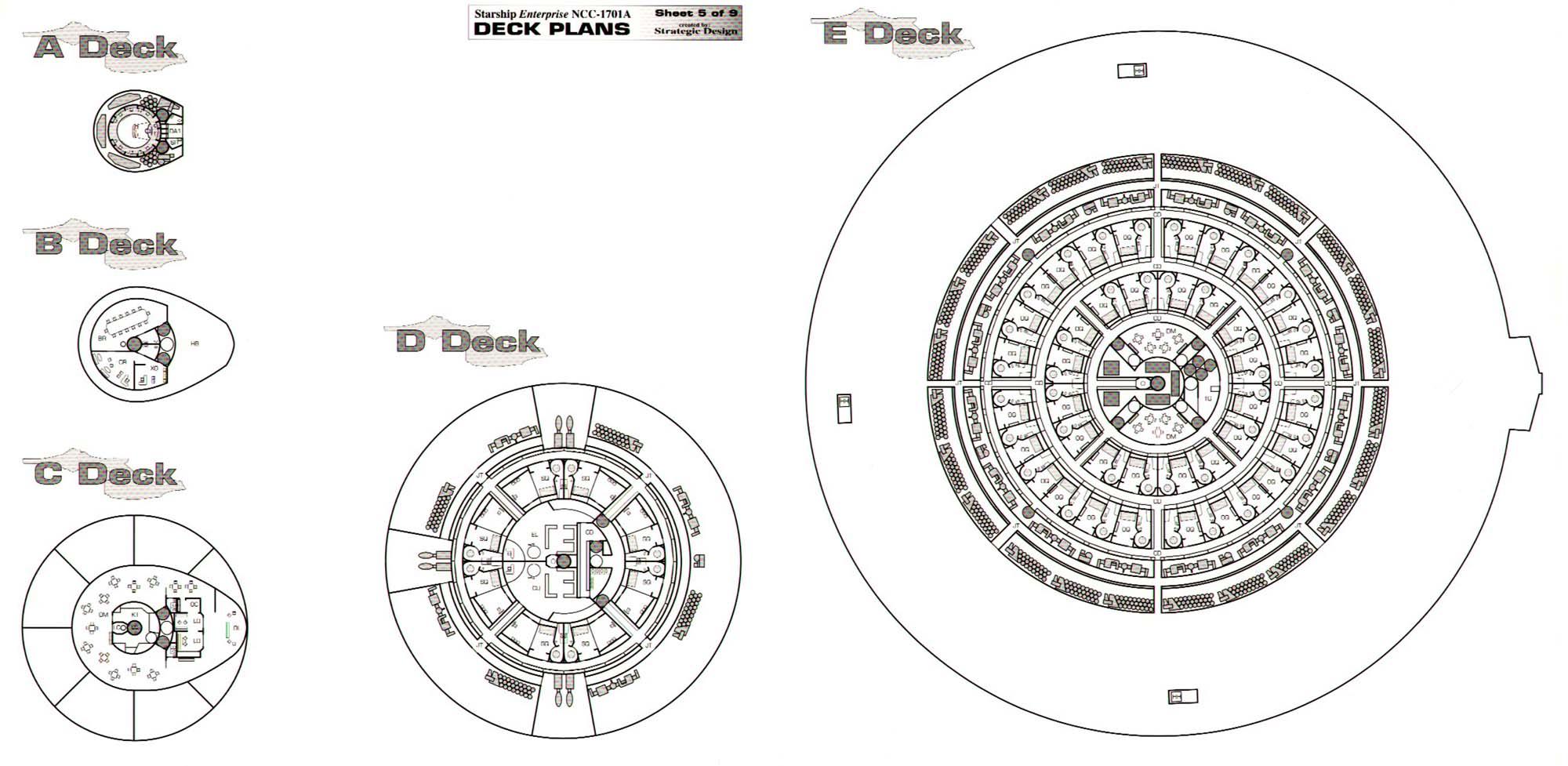 U S S Enterprise Ncc A Deck Plans