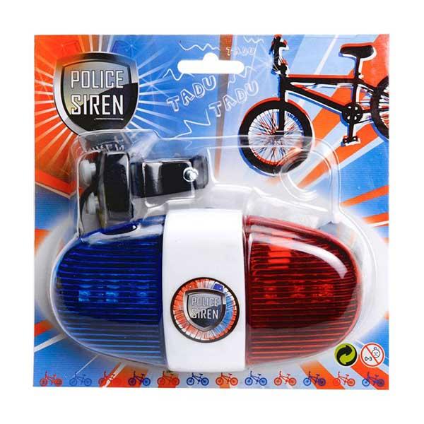 Politi Sirene til cyklen med lys og lyd