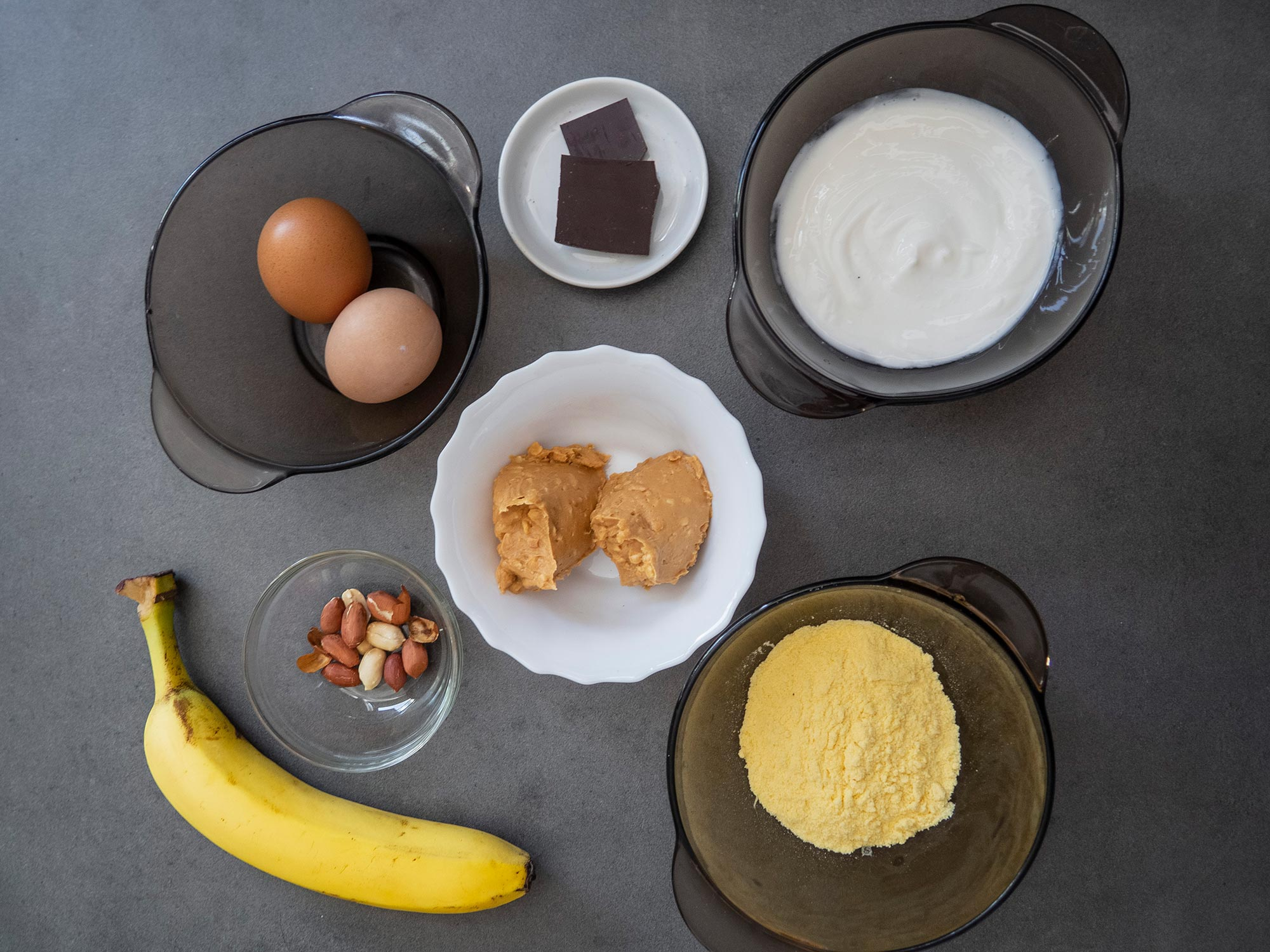 Ingredients for Snickers Pancakes