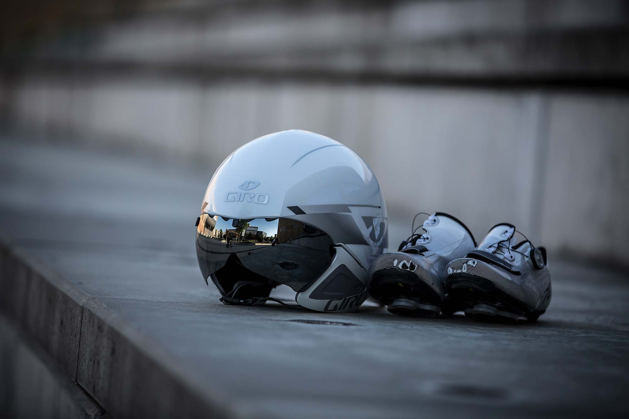 Helmet and shoes for time trial
