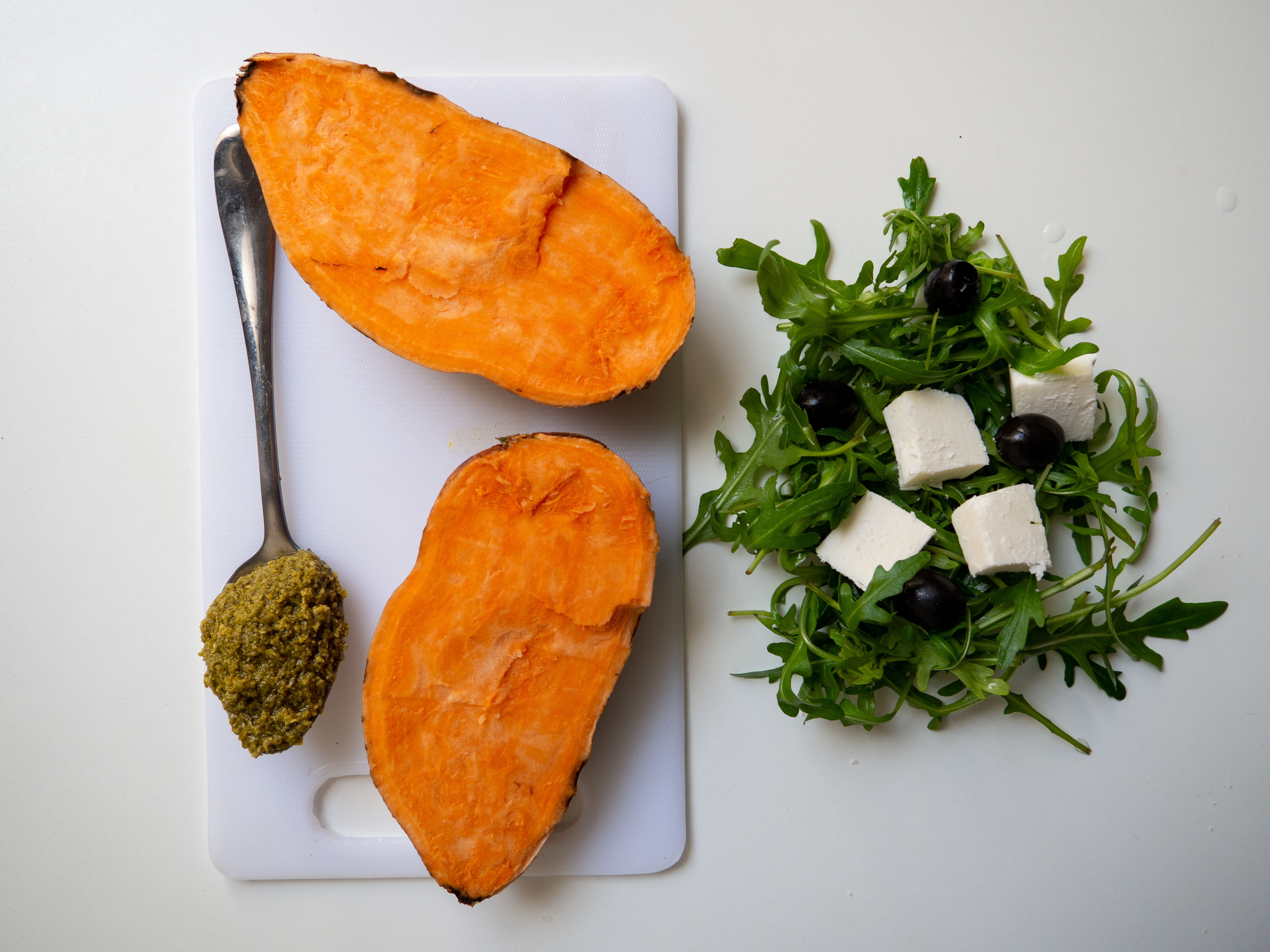 Sweet Potatoes with feta cheese