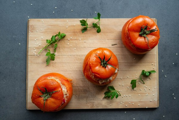Stuffed Tomatoes With Barley Groats