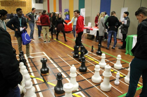 Giant Chess game at Superfest
