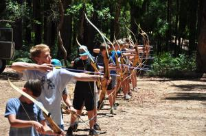 kids having fun with bow and arrows 2017