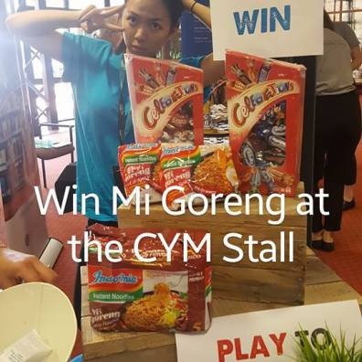 Play to win prizes at the CYM stall 2017