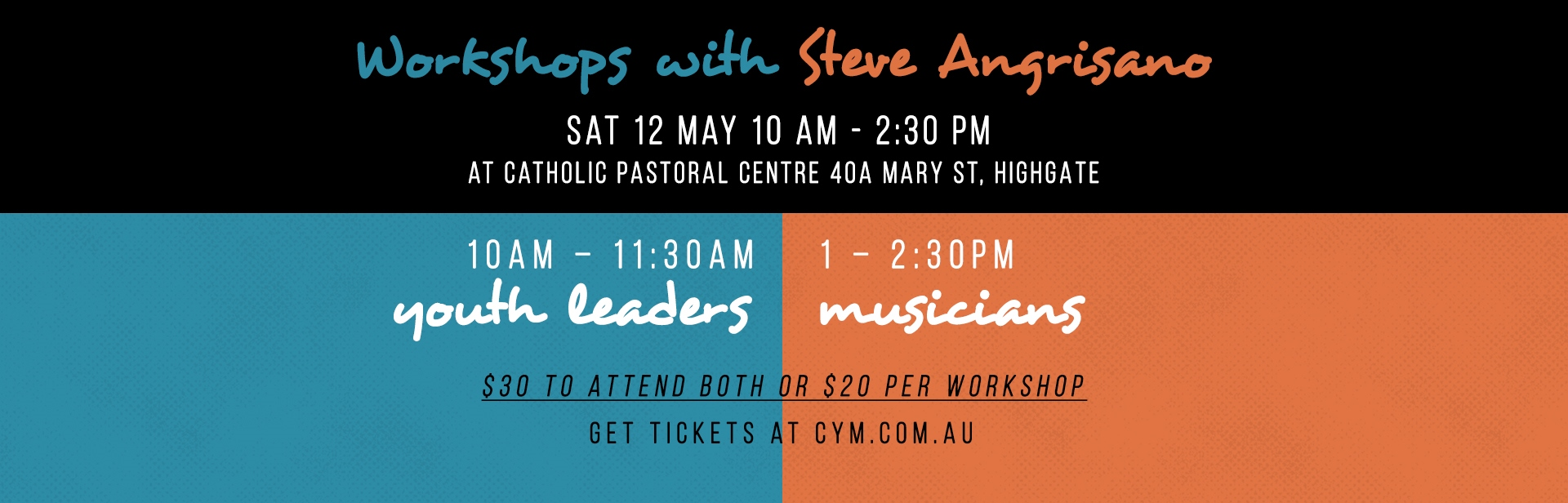 Steve Angrisano - Workshops for Youth Ministers & Musicians