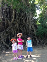 the kids with the tree