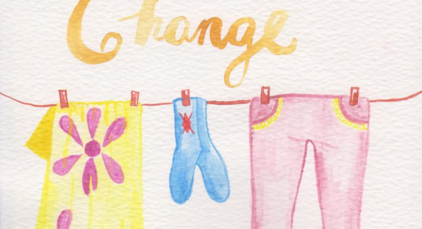 life after happily ever after laundry watercolor