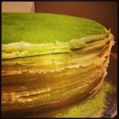 Lady M Green Tea Mille Crepe Cake