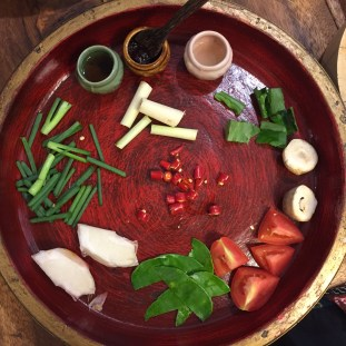 Silom Thai Cooking School - Tom Yum ingredients