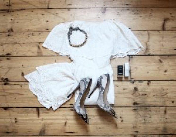 Topshop Broderie Bardot White Cyncity Cyntra Charlesworth Blogger Style
