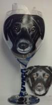 Dog Portrait Wine Glass