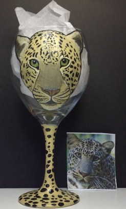 Leopard Wine Glass