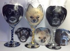 Custom Pet Wine Glasses