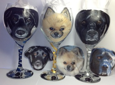 Custom Pet Wine Glasses