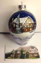 Hand Painted Christmas Ornament 1