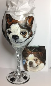 Pet Portrait Wine Glasses