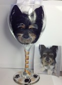 Custom Dog Portrait Wine Glass