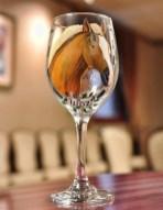Horse Wine Glass