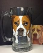 Pet Portrait Beer Mug Custom Pet Glasses Custom Dog Glass