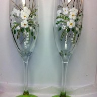 Custom Painted Champagne Flute