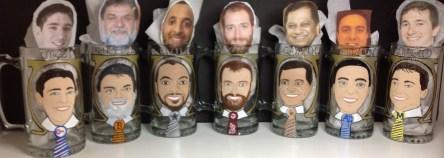 Custom portrait beer mugs