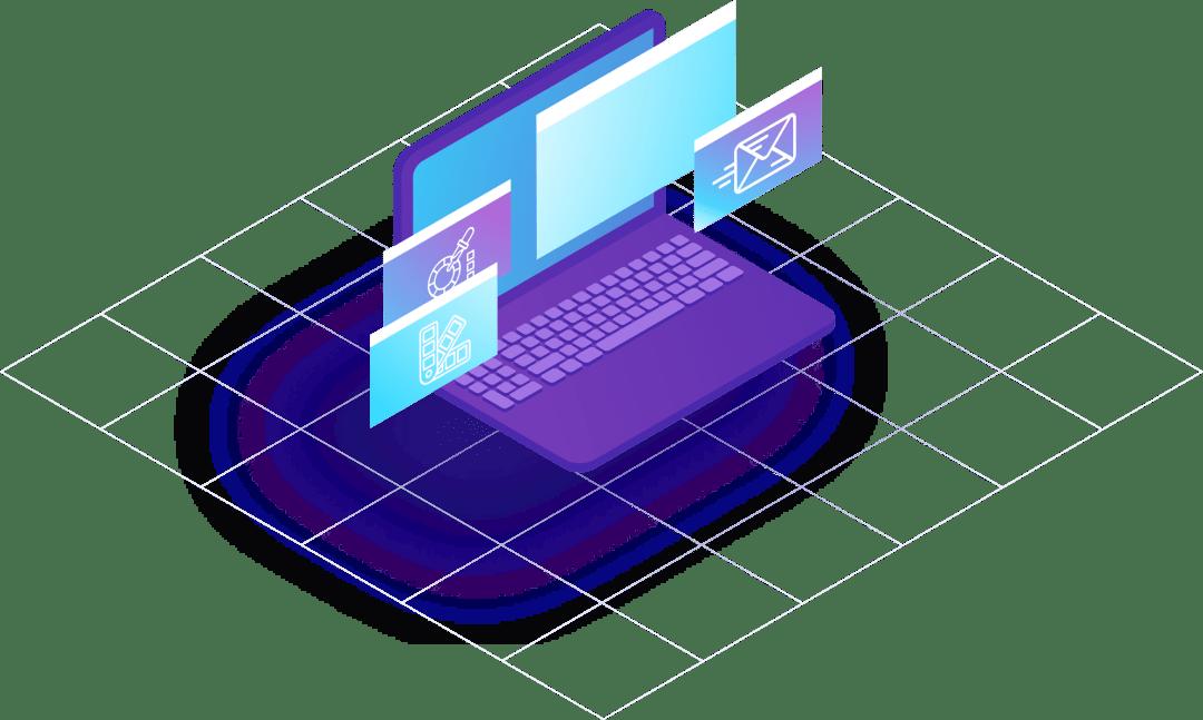 isometric design - laptop