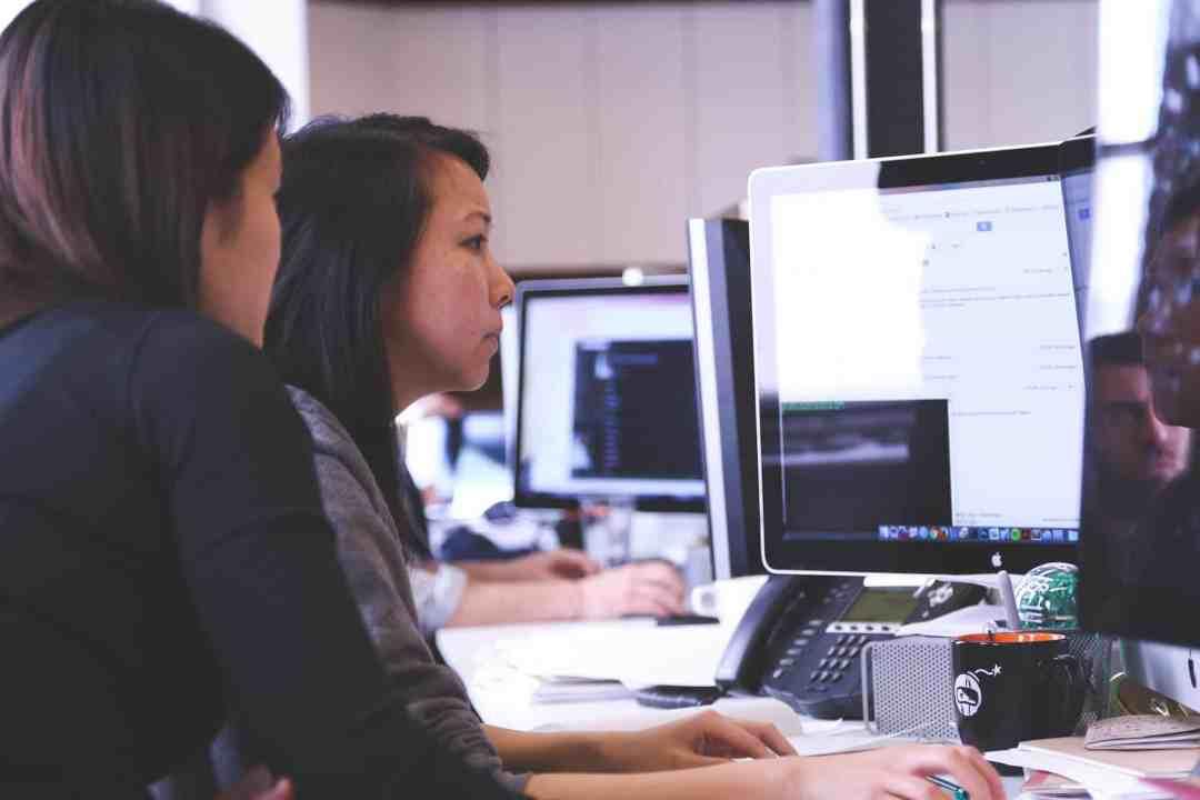 Woman on Computer Image