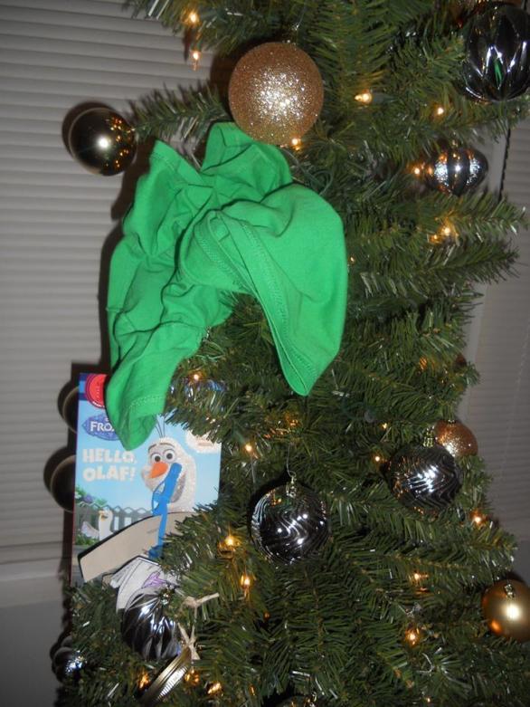 shirt in tree