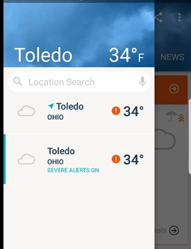 Delete Accuweather location from my phone – Cyn Mackley