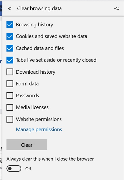 Microsoft Edge: Clear the cache – Cyn Mackley