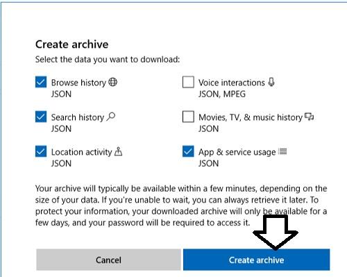 data-archive-create