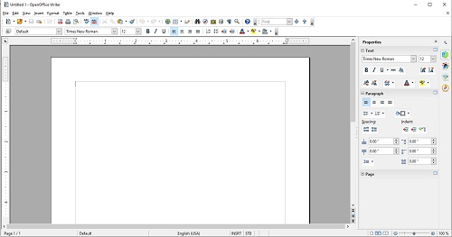 open-office-writer-main-screen