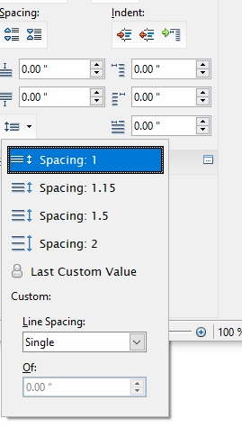 spacing-options