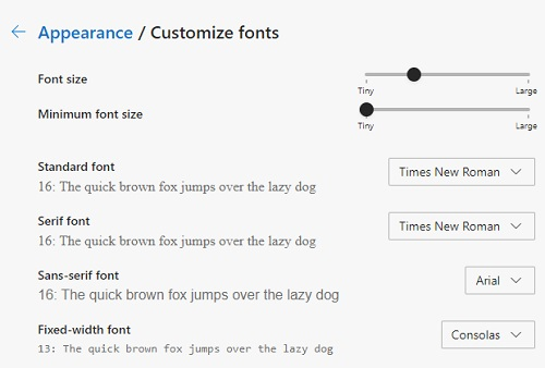 customize fonts