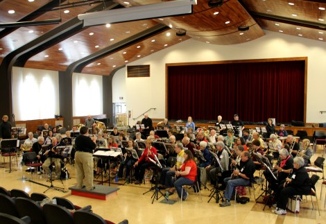 Second Chances Community band of NS rehearsing at Halifax Community Band Festival at Saint Mary's University.