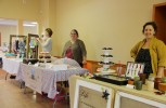 Three Melissa's in a row at Hammonds Plains Sunday community market: Melissa Bishop of Baby B Handmade, Melissa Pemberton of I Dream Of Cake and Melissa Gillis of Pretty Things.