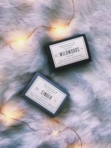 woodlot soaps. twinkly lights, fur blanket. 5 Helpful Things I Bought to Kickstart My Blog