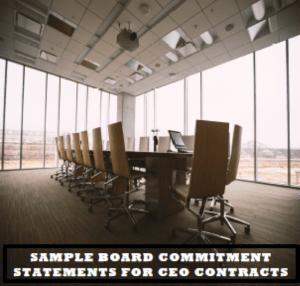 Board Commitment Statements