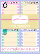 Free Printables –  3×4 Journal Cards
