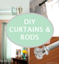 Beautiful DIY Curtains & Rods