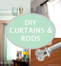 Beautiful DIY Curtains & Rods