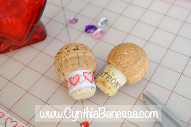 Valentine Jar Cork Tops