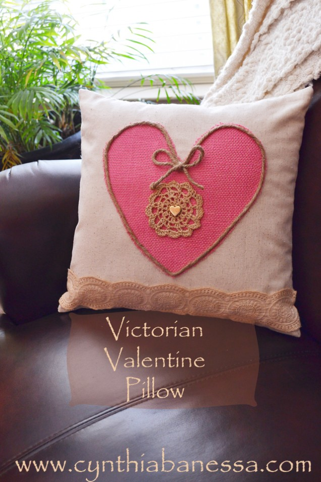 Victorian pillow cover