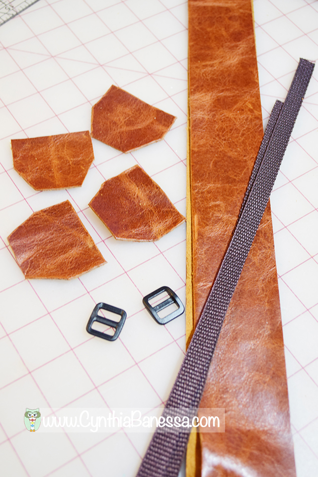 cut leather pieces