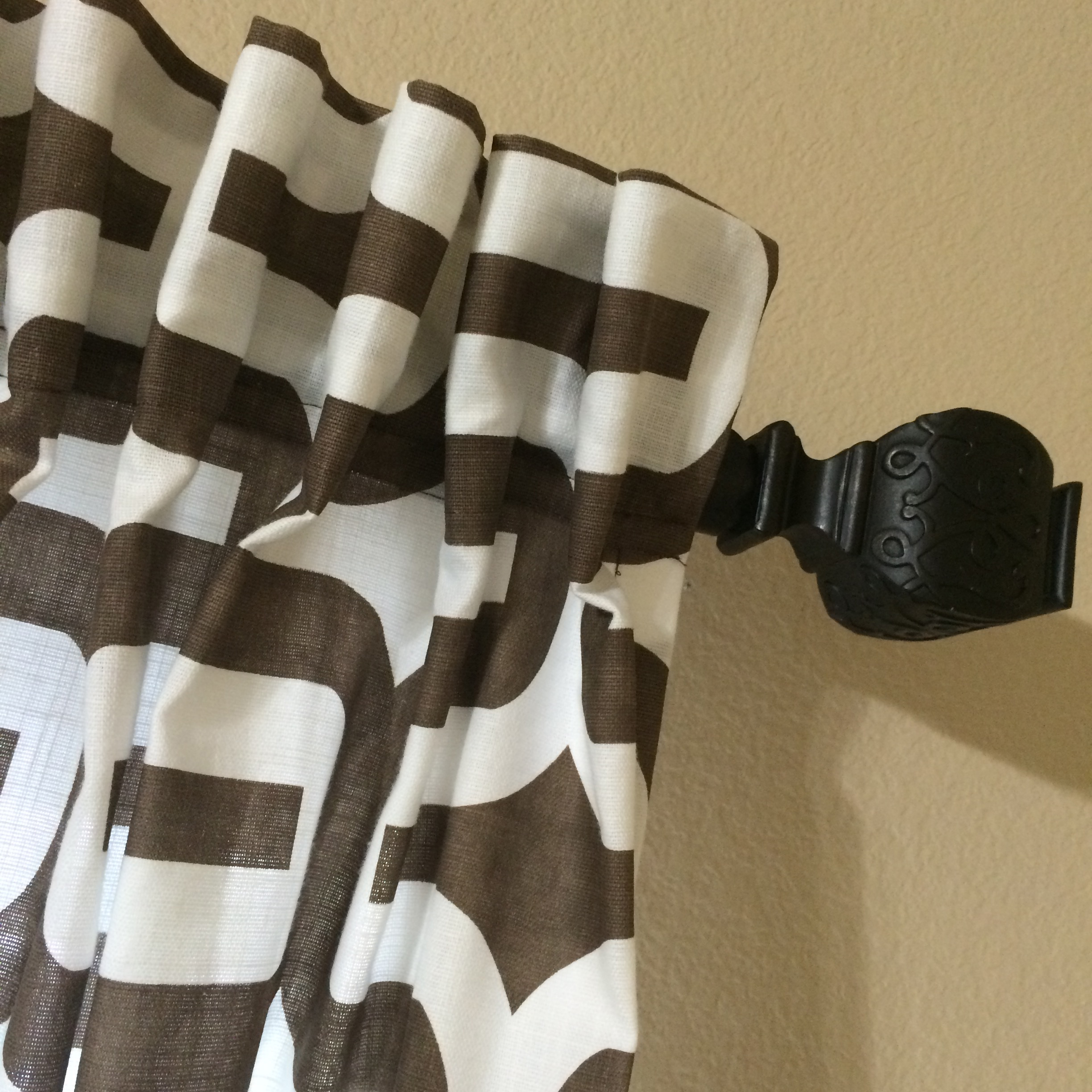 DIY curtains top